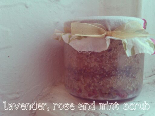 lavender rose mint scrub