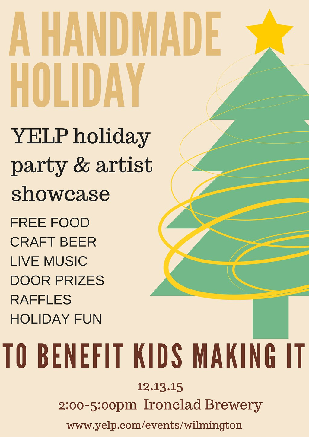 """""""A Handmade Holiday"""" Yelp Party & Artist Showcase"""